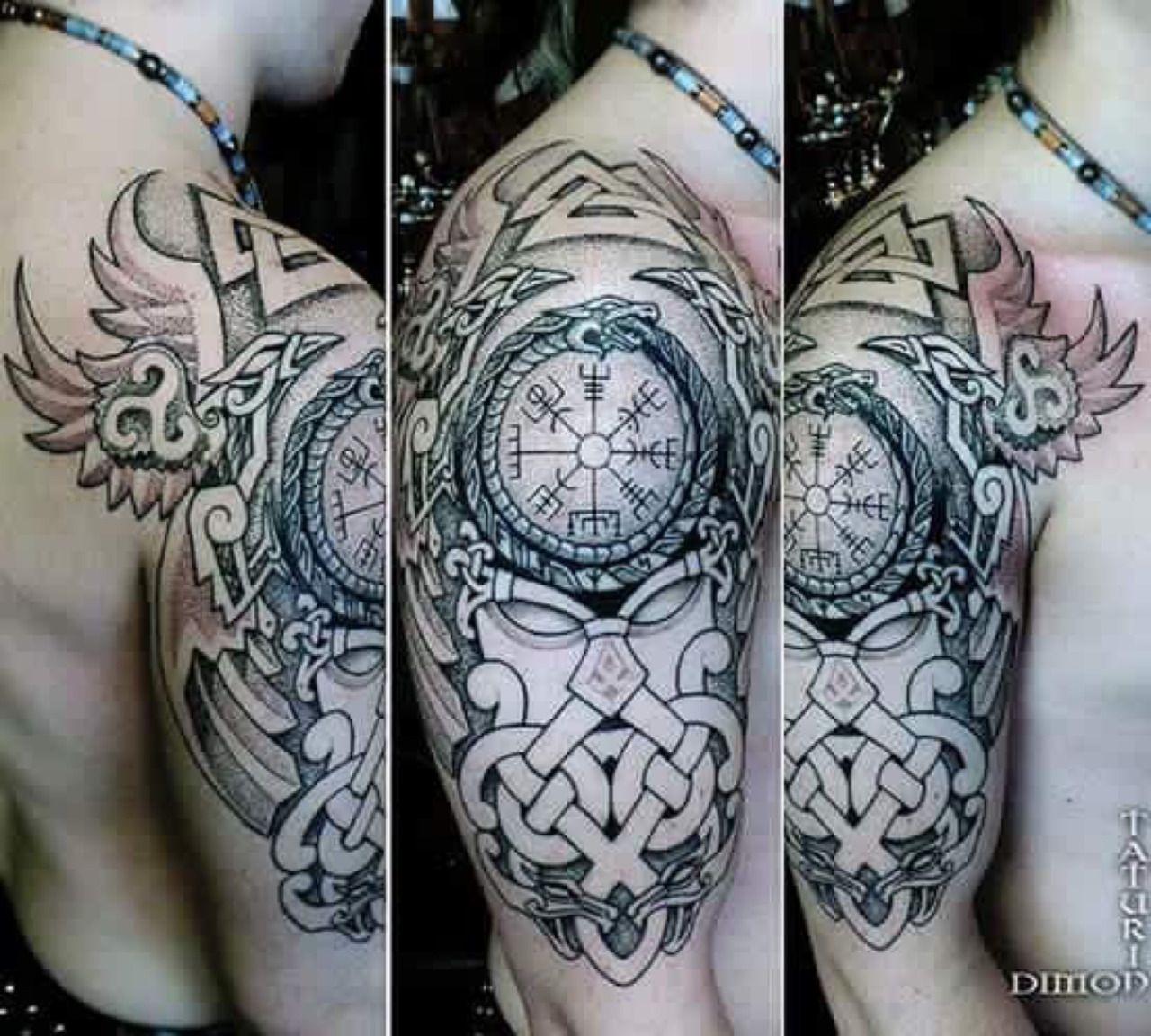 Beautifully Done Tattoo Armor Tattoo Nordic Tattoo Tattoos
