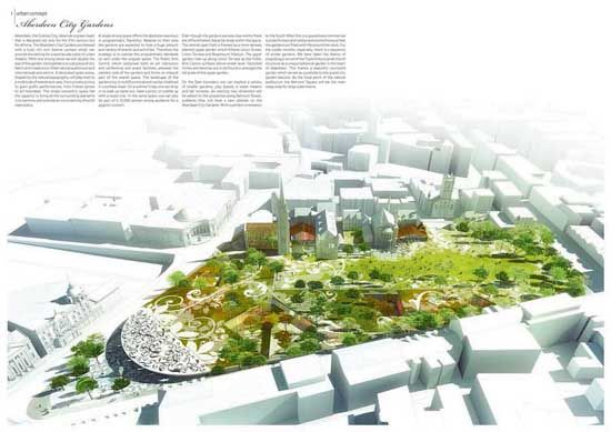 aberdeen city garden design competition entry birds eye view maybe sketchup or rhino with