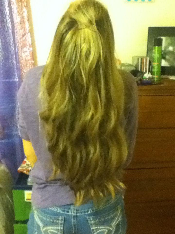 Curly wavy hair <3