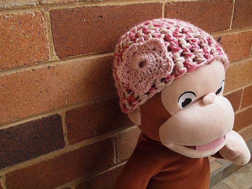 Free Crochet Baby Hat and Flower Pattern. | Free Crochet Baby Hat ...
