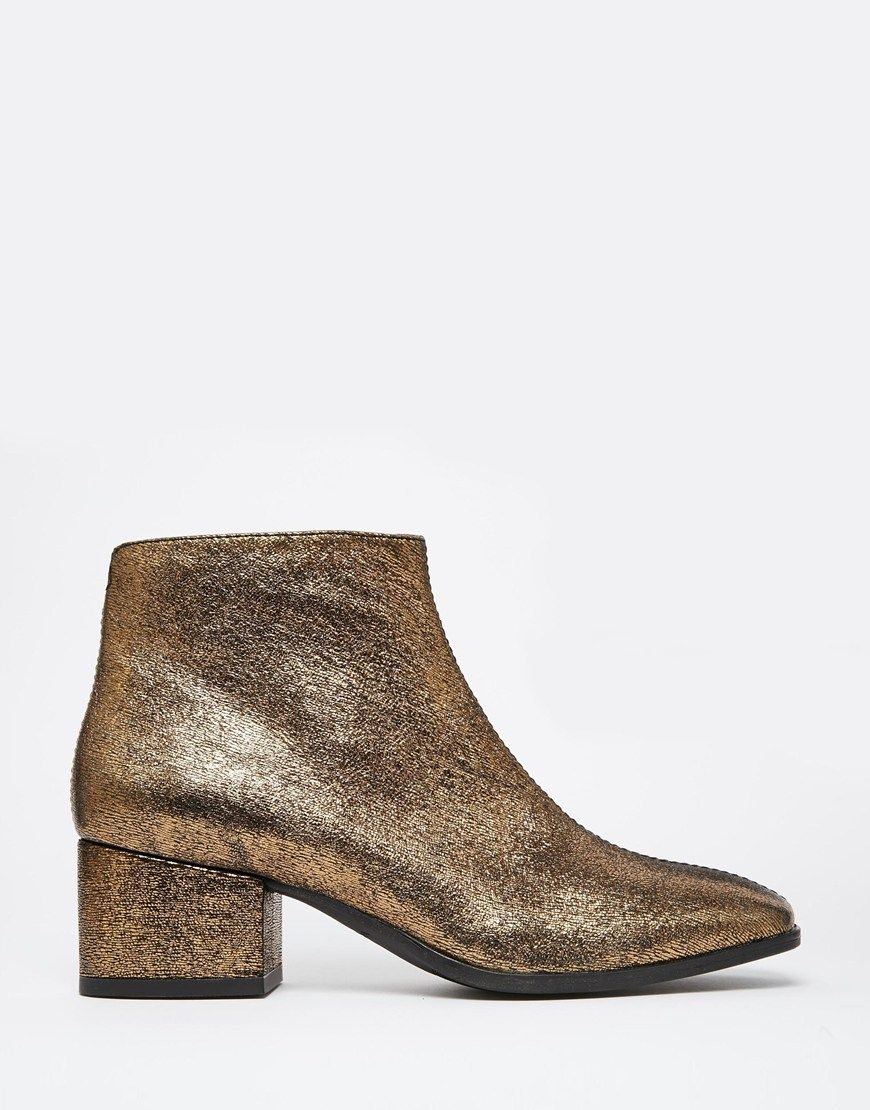 Buy Women Shoes / Vagabond Daisy Gold Metallic Leather Ankle Boots
