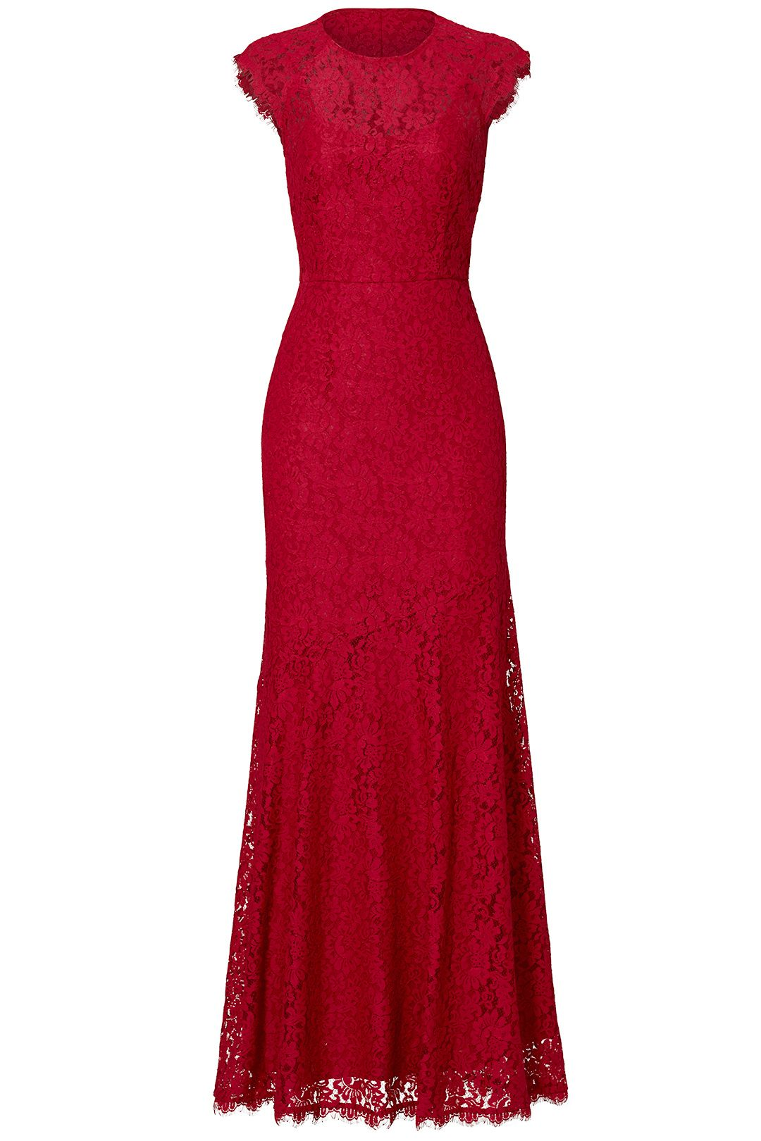 Red Rose Cap Sleeve Gown by Shoshanna for $70 - $90 | Rent the ...
