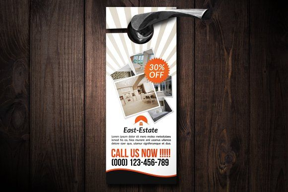 Real Estate Door Hanger By Business Flyers On Creativemarket