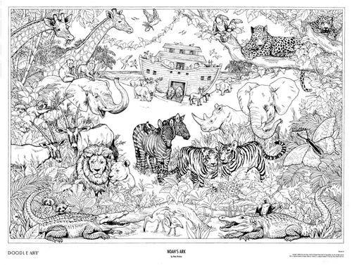 doodle art noah ark super other and pens pencils animal arts n crafts doodle art. Black Bedroom Furniture Sets. Home Design Ideas
