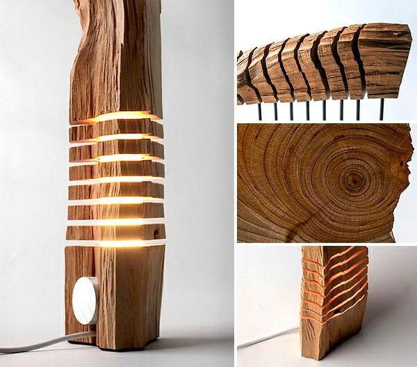 moderne Holz Skulptur Lampe Design Ideen Kollektion Etsy | Art ...