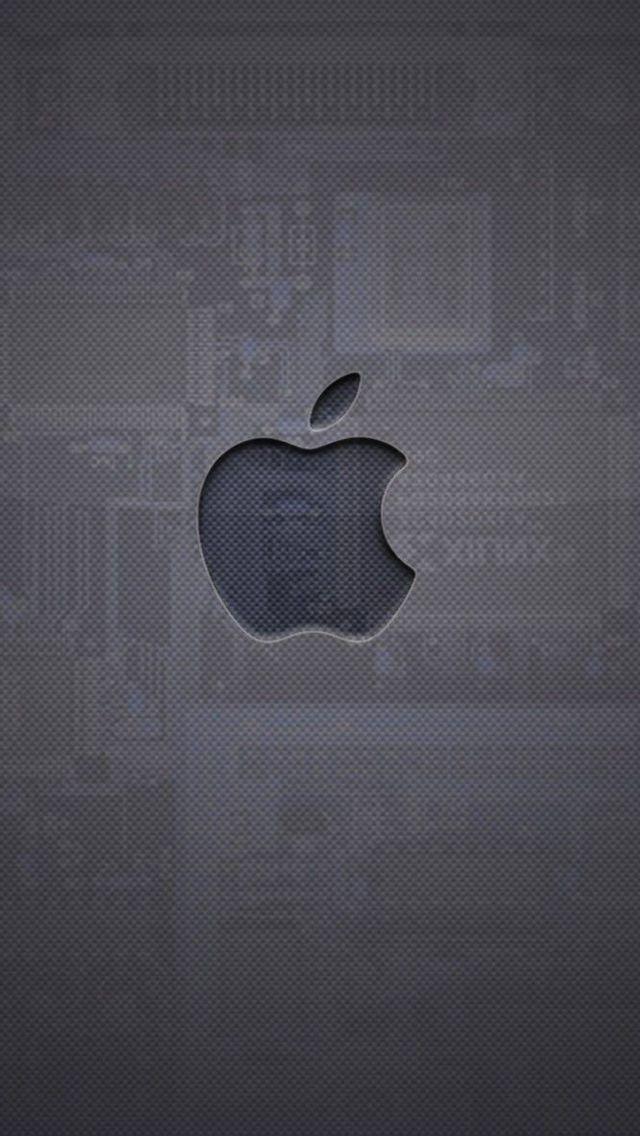 Apple Logo Gris Chip By Angelk3215 Deviantart Com On Deviantart Iphone 5s Wallpaper Apple Logo Wallpaper Iphone Apple Iphone Wallpaper Hd