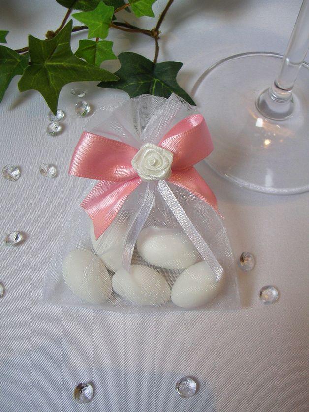 Gastgeschenk Mandeln Im Organzasackchen Rosa Geschenke Ideen Fur Die Hochzeit Gastgeschenke