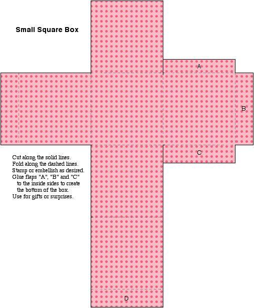 Polka Pink Box Template By Kat Likes Pie Deviantart Com On