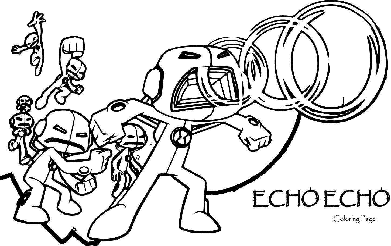 Nice Echo Echo Ben 10 Alien Force Coloring Page