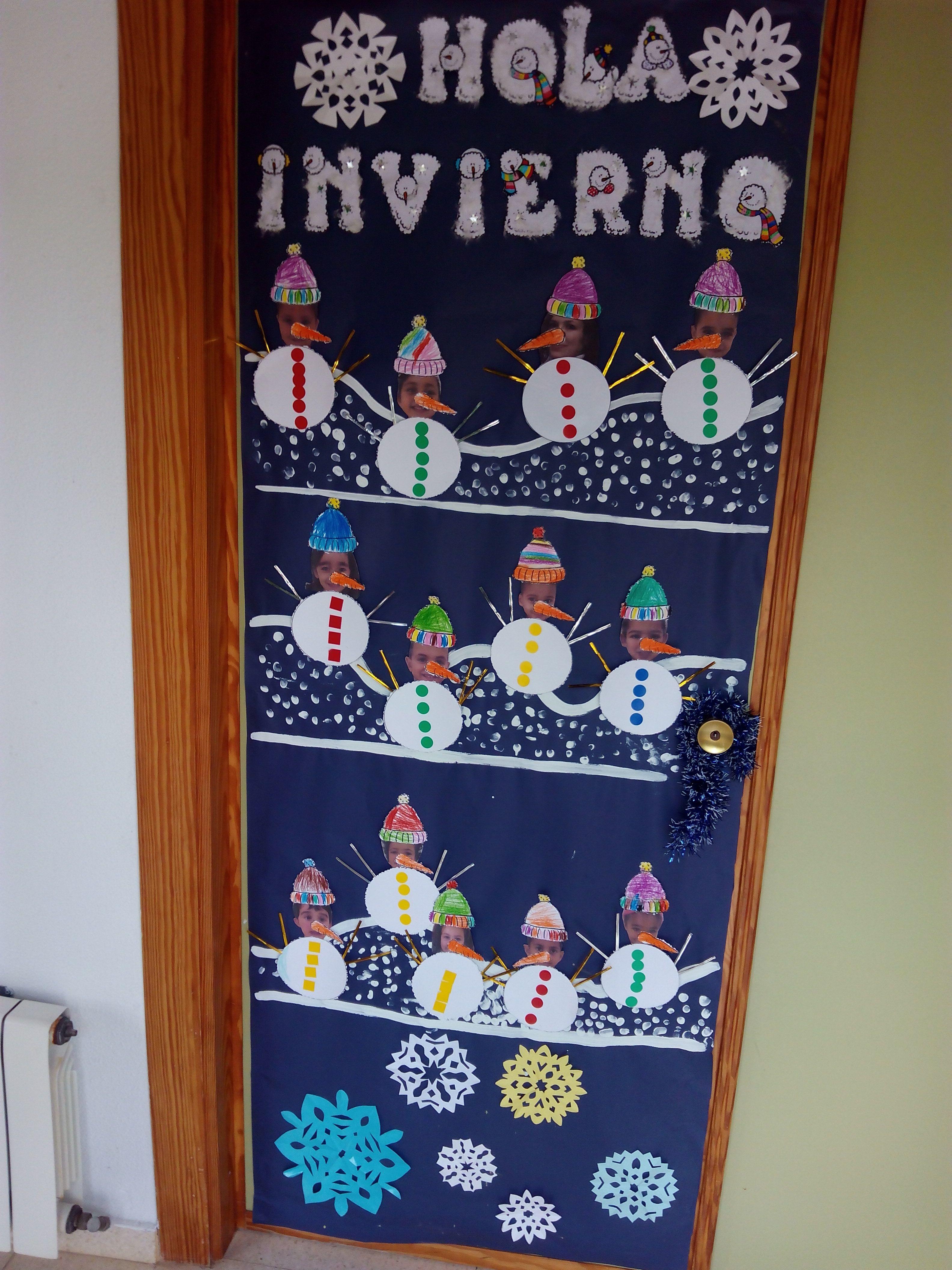 Puertas invierno buscar con google hivern pinterest - Mural navidad infantil ...