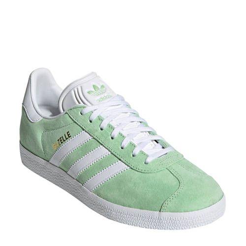 adidas originals Gazelle W sneakers lichtgroen/wit - Adidas ...
