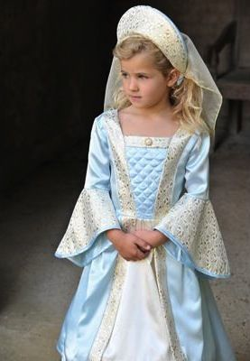 Girls Knight Princess Costume Childs Medieval Fancy Dress Kids History Outfit