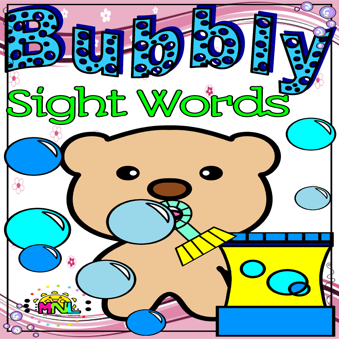Free Sight Words Soap Bubble Match Up Activity Freebie