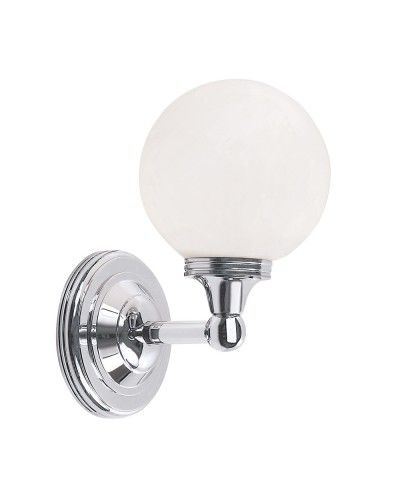 Bathroom Lighting Globes elstead lighting austen4 solid brass 1 light bathroom wall light