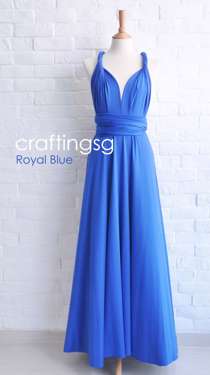 Bridesmaid Dress Infinity Dress Royal Blue Floor by craftingsg, $50.00