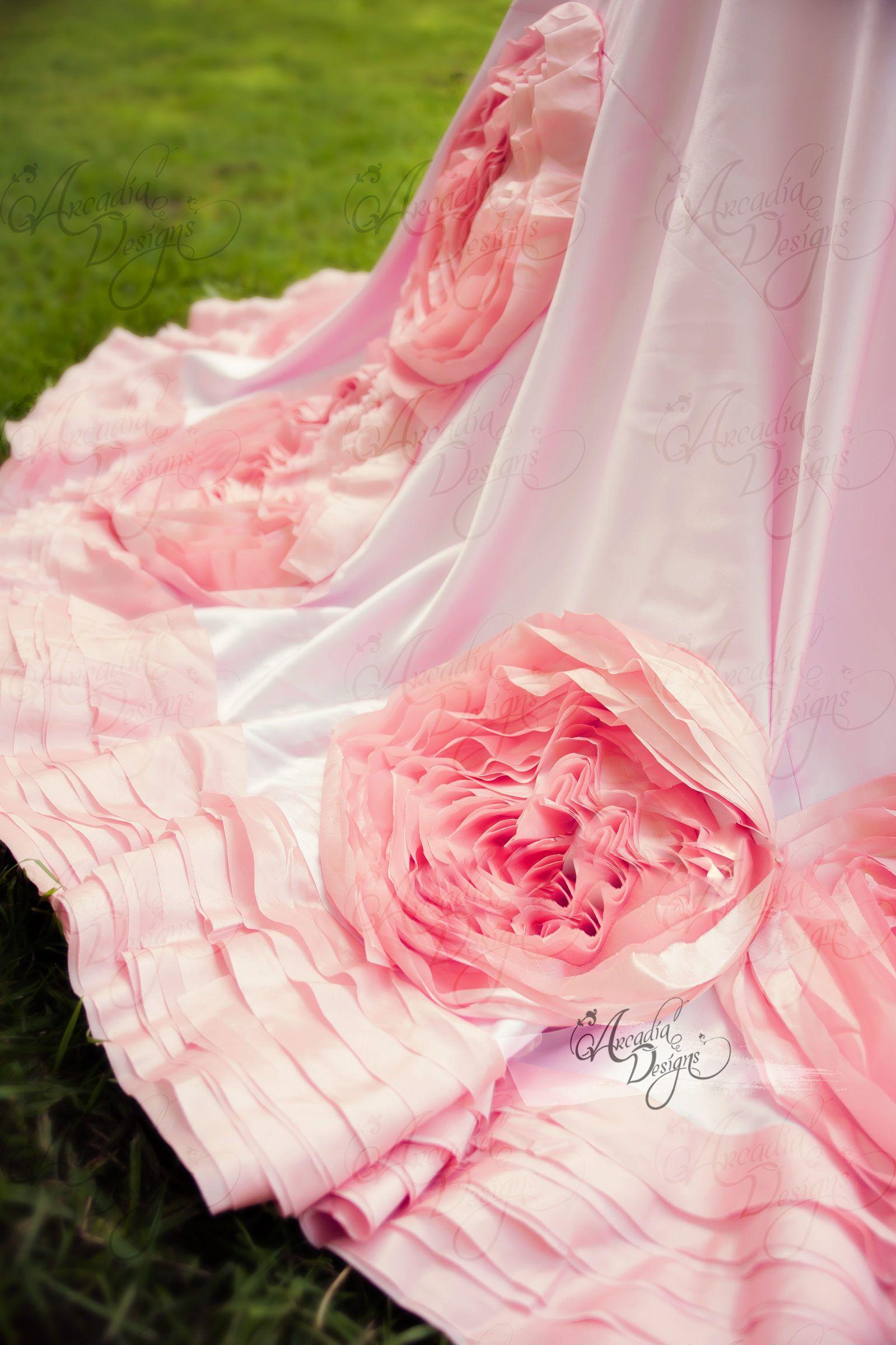 Rosette Tablecloth | Romantic Taffeta Satin Rose Tablecloth for ...