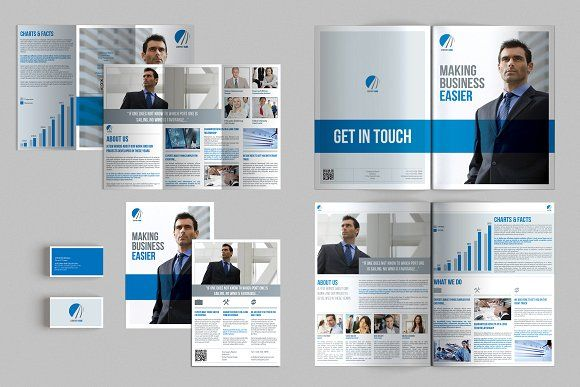 Set Of Brochures Stationery By Andre On Creativemarket - Online brochures templates