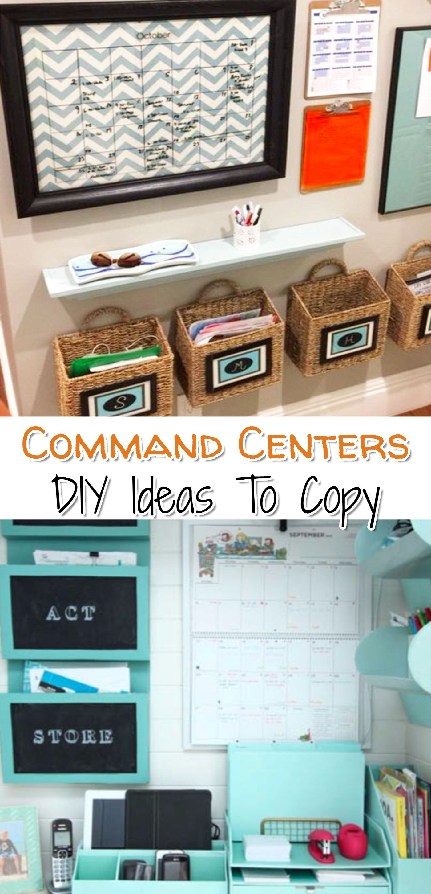 DIY Home Command Center Ideas To Organize Your Family\'s Life | Pinterest
