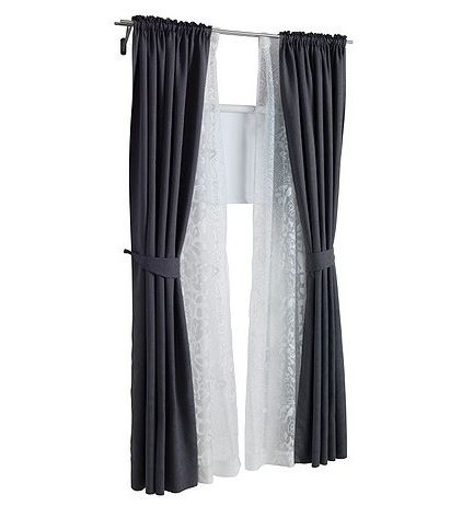Modern Curtains By Ikea Black And White Lace Curtains Living
