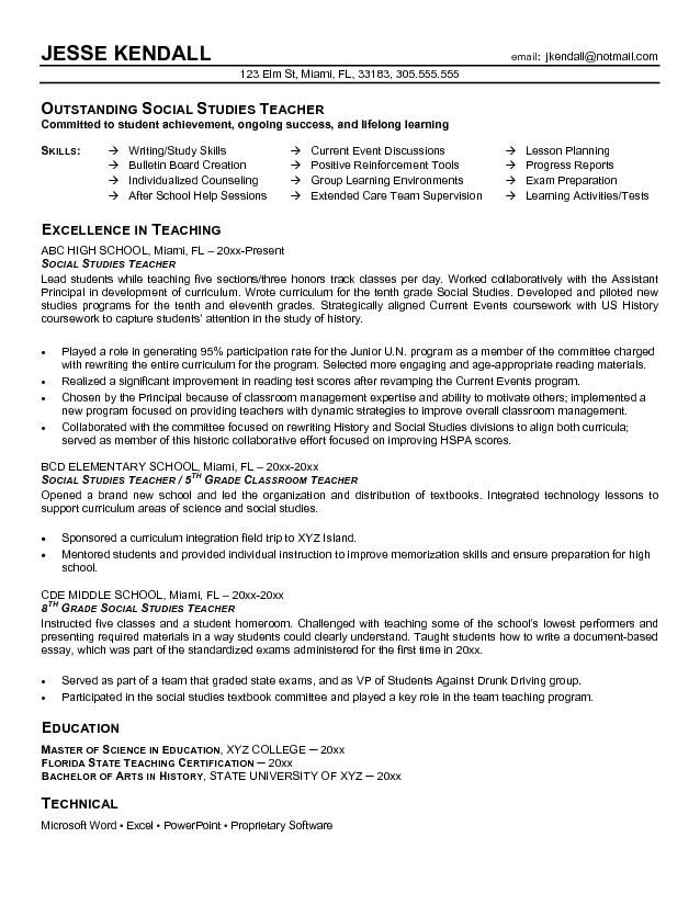 Resume For Teachers Whether You Are Requisitioning An Advancements Position Or A Teacher Resume Examples Elementary Teacher Resume Teacher Resume Template Free