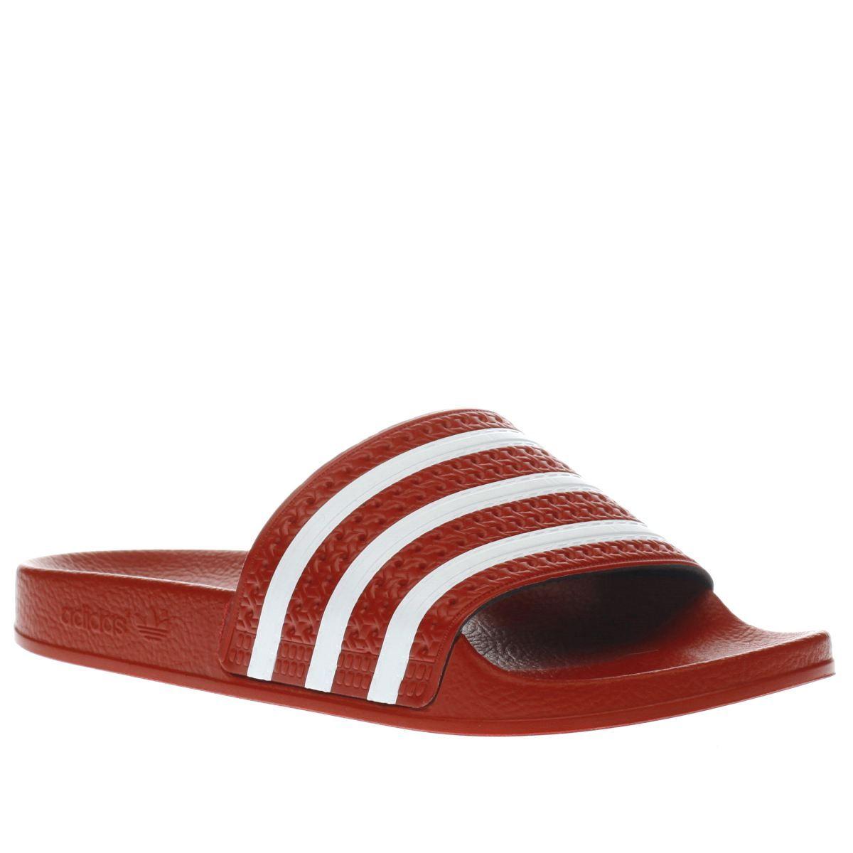 womens adidas red adilette sandals
