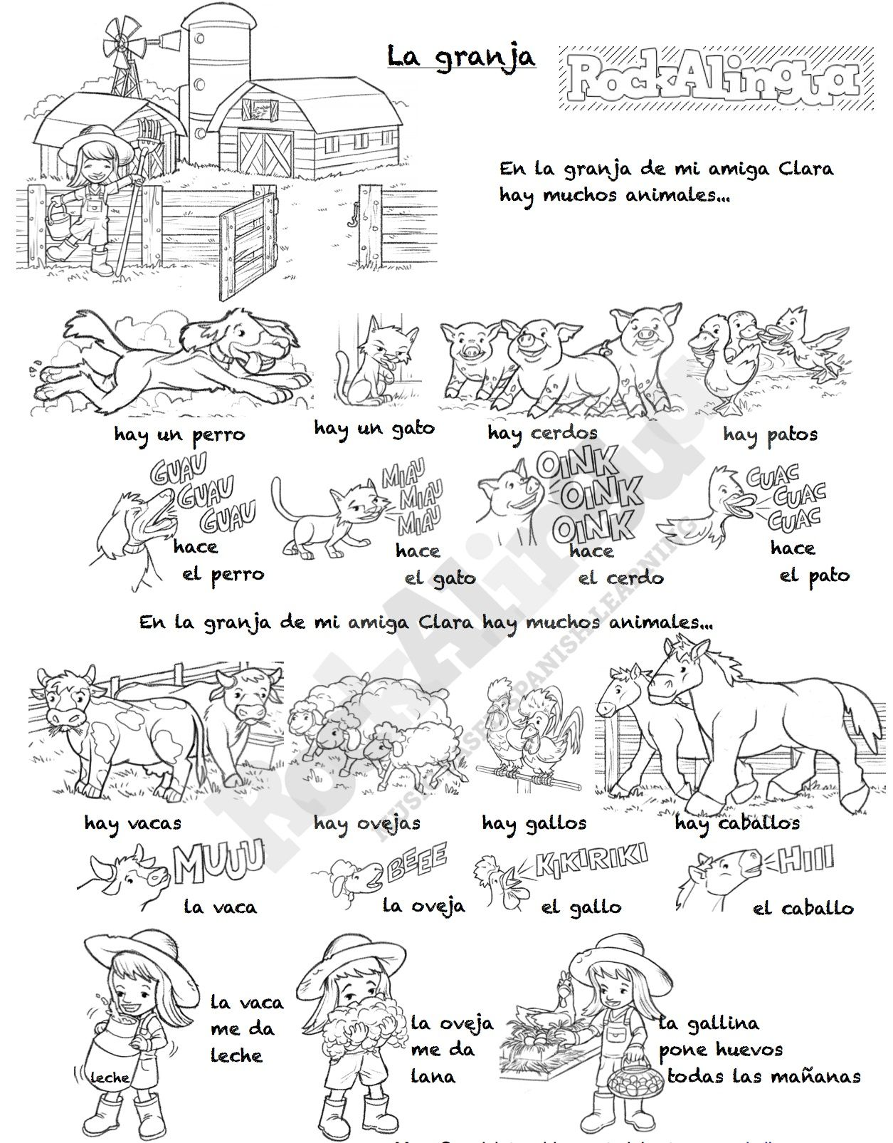 Farm Animals Song In Spanish For Kids