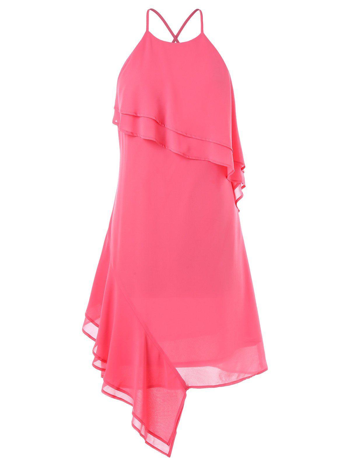 37161f25ea4d High Waisted Spaghetti Strap Chiffon Dress - RED WINE S | WOMEN'S FASHION  OF ALL KIND | Pinterest | Dresses, Chiffon Dress and Fashion