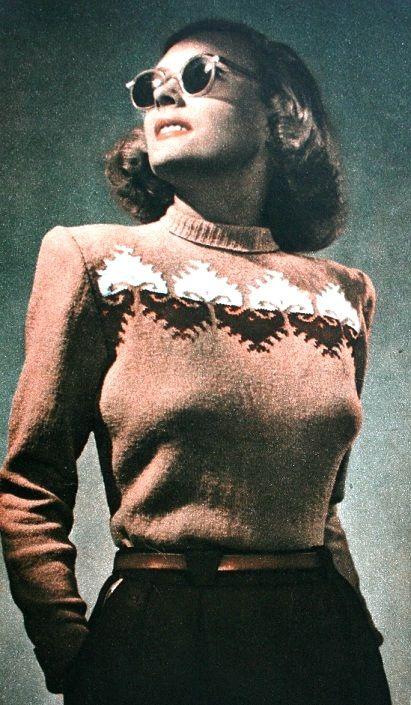 Knitting fashion, EVA Magazine September 1950 (image scanned by Magdorable)