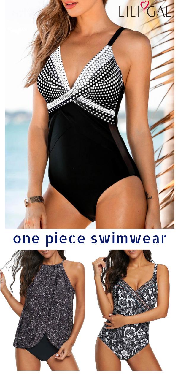 Photo of cute one piece swimwear for women