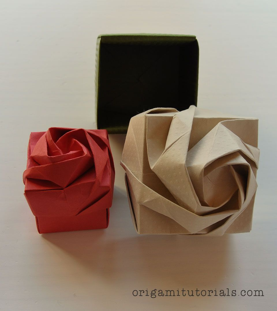 Origami Rose Box Haha Pinterest Origami Box And Origami Gifts