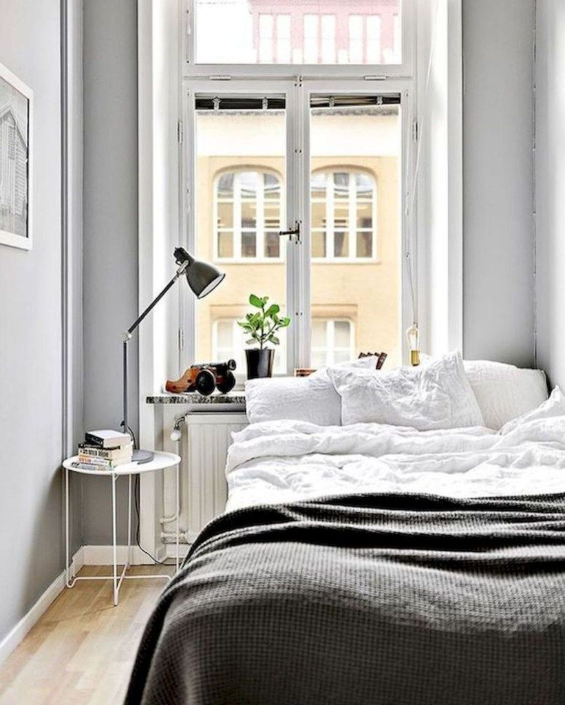 36 Stunning Modern Scandinavian Bedroom Design And Decor Ideas Small Apartment Bedrooms Small Bedroom Ideas On A Budget Small Master Bedroom