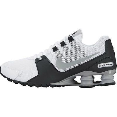 detailed look 79cd6 394d3 Nike Shox Avenue Mens 833583-100 White Grey Black Athletic Running Shoes Sz  11