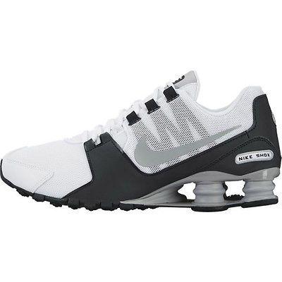 Nike Shox Avenue Mens 833583-100 White Grey Black Athletic Running Shoes Sz  9.5