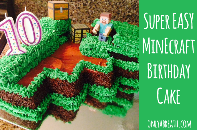 Prime Super Easy Minecraft Birthday Cake For Kids With Images Funny Birthday Cards Online Alyptdamsfinfo