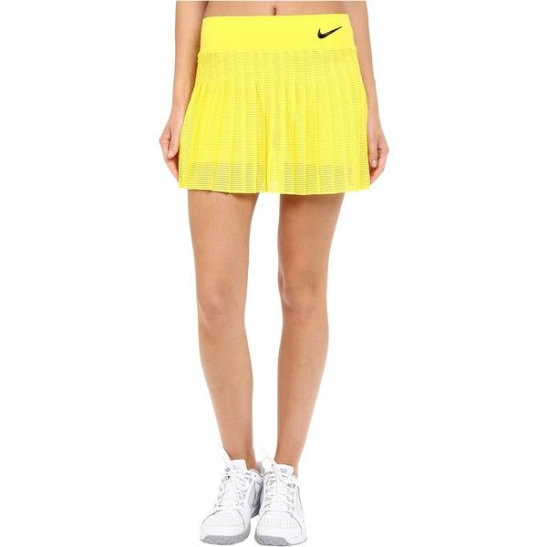 Nike Court Victory Premier Tennis Skirt Opti Yellow Obsidian Women S 845 Mxn Liked On Polyvore Featur Tennis Fashion Tennis Skirt Pleated Tennis Skirt