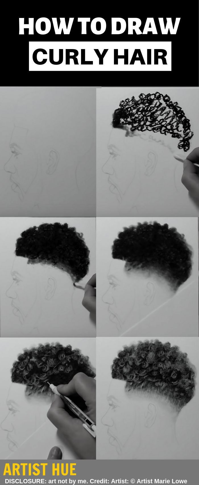 Artist Hue Best Creative Ideas Blog For Artists And Creators Realistic Hair Drawing Realistic Drawings Drawings