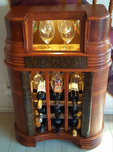 1942 Philco Radio Wine Bar Wine Cabinets Bar Table Diy