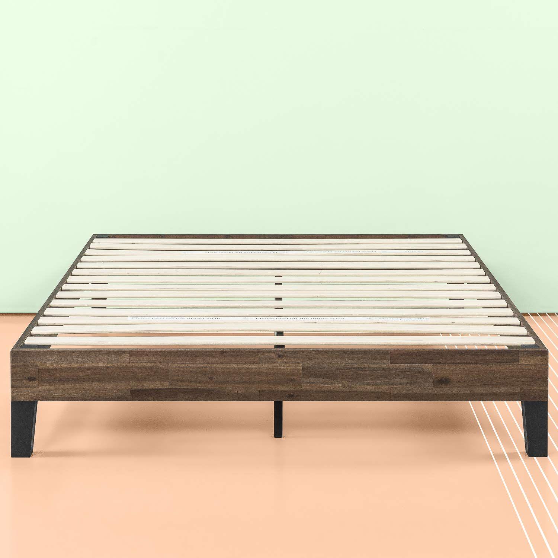 Amazon Com Zinus 12 Inch Acacia Wood Platform Bed No Boxspring