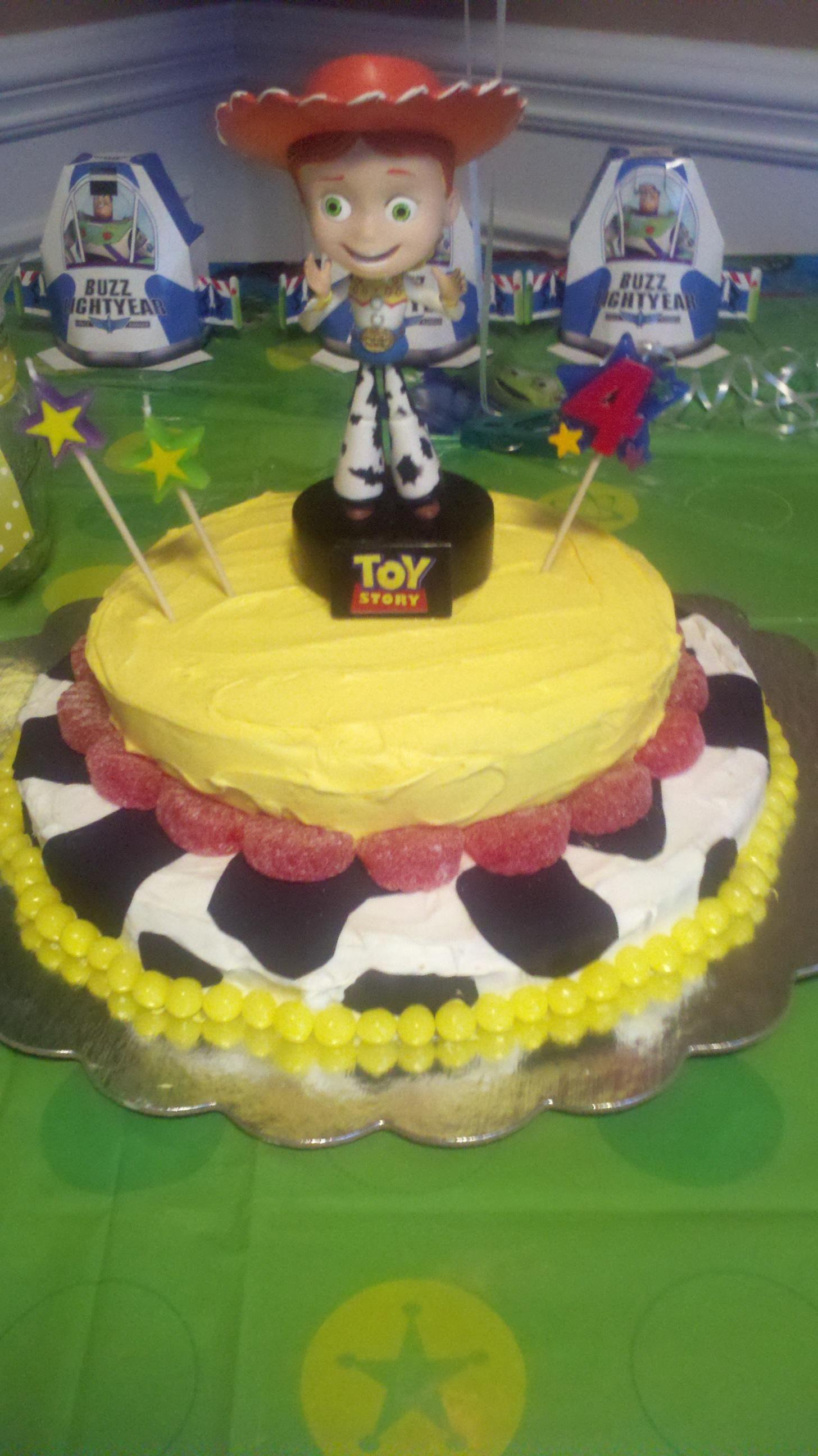 Homemade Jessie birthday cake