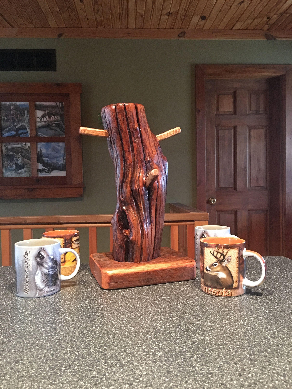 Coffee mug standcoffee tea bardriftwoodreclaimed rustic