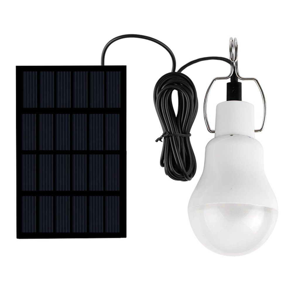 Abedoe Portable Led Solar Rechargeable Lamp Tent Light with 5V Solar ...