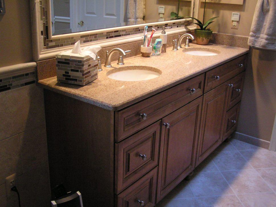 Bathroom Vanity Two Sink White Double 48