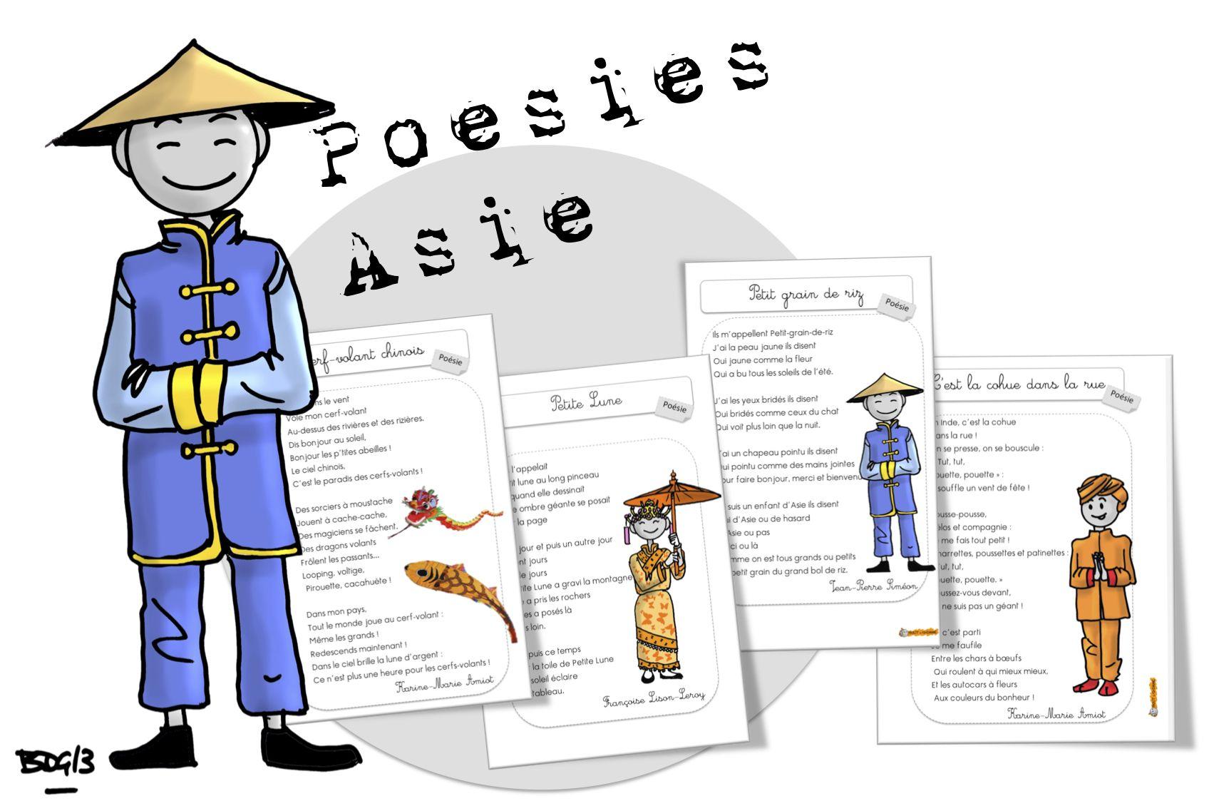 Bien-aimé Poésies : l'Asie | Bout de gomme, Asie et Chine PL78