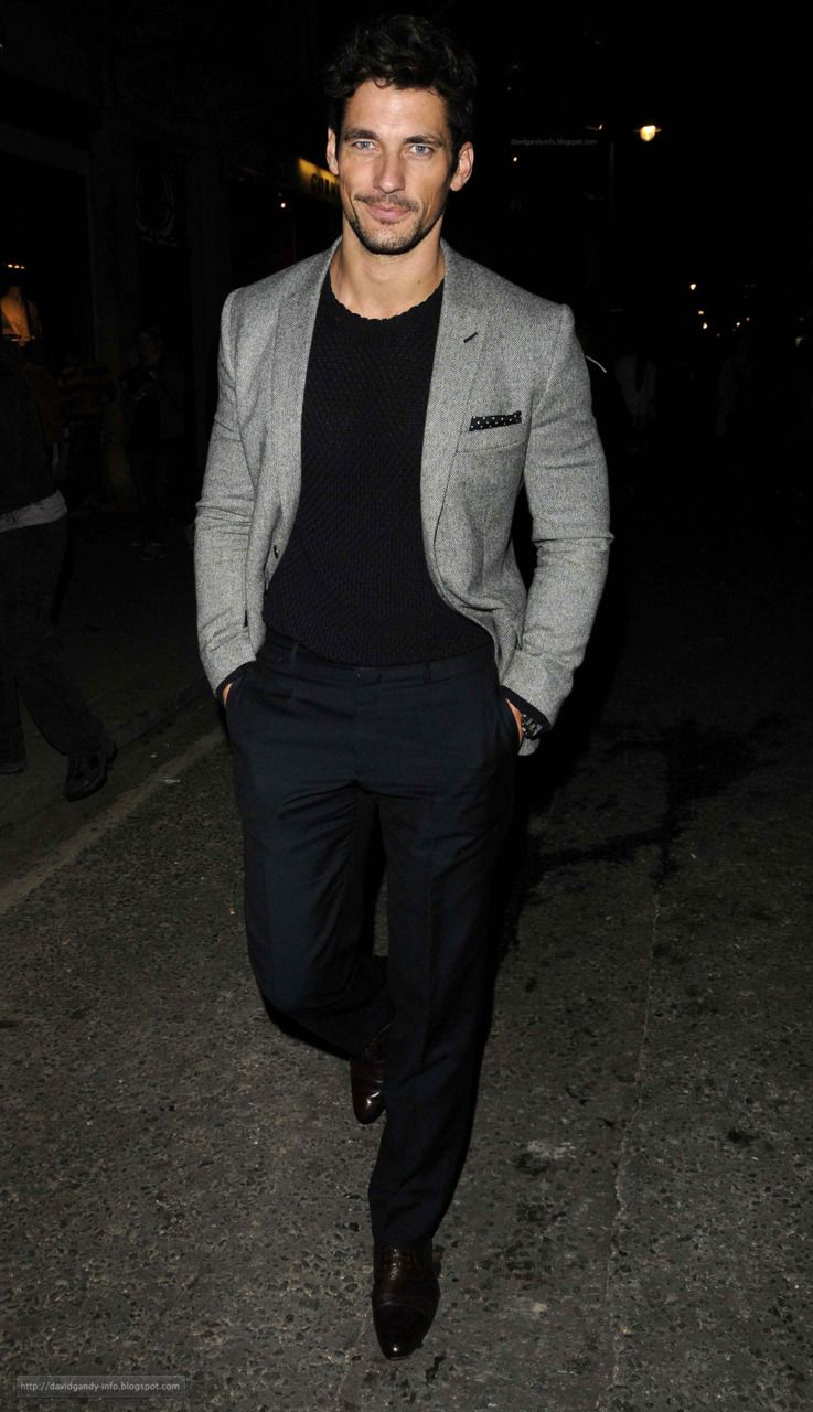 male supermodel david gandy, great look for night out | style for