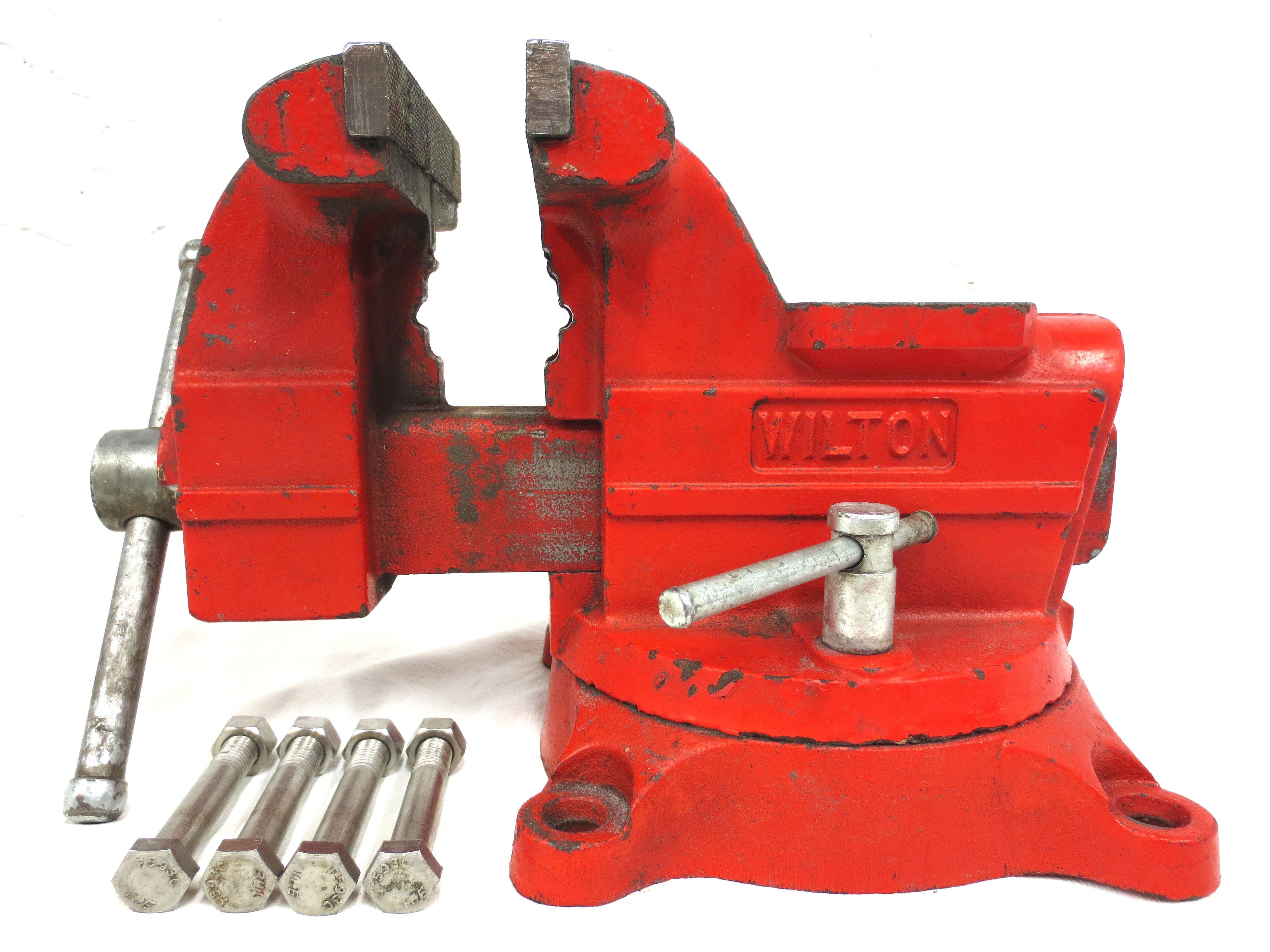 Vintage wilton vise 6 jaws swivels mechanic machinist vise red vintage wilton vise 7 jaws swivels gunsmith mechanic machinist vise red usa excellent working fandeluxe Choice Image