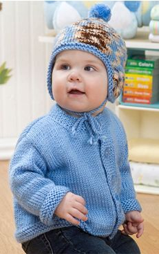 284b6896d7c6 baby knitting pattern for jacket and bonet