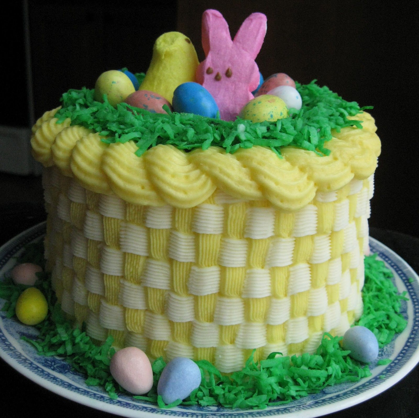 Easter cake recipes baking outside the box easter basket cake w cake negle Gallery