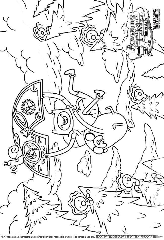 Finn and Jake Adventure Time coloring page for kids  Crafty