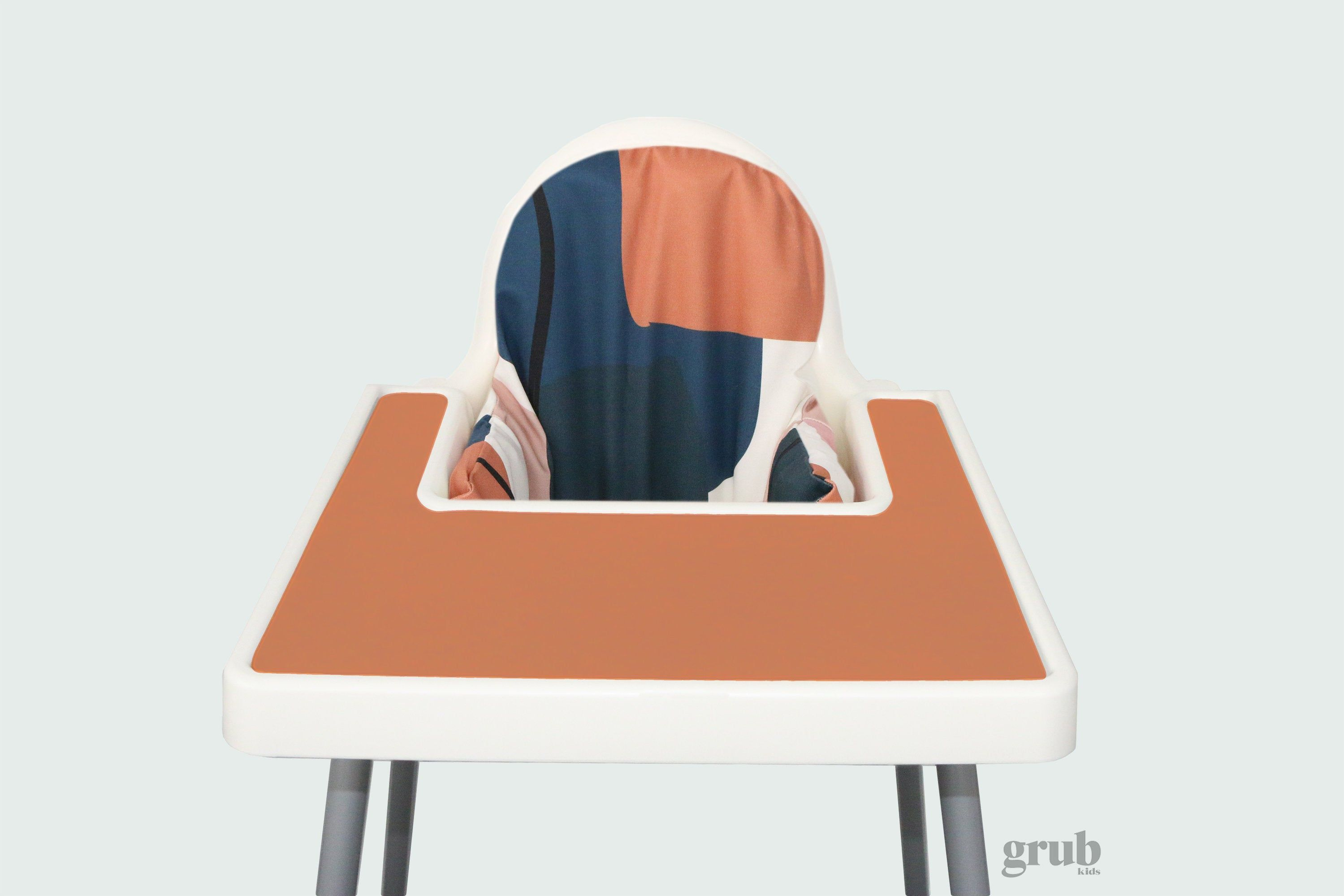 Terracotta Navy Abstract Highchair Cover for IKEA Antilop