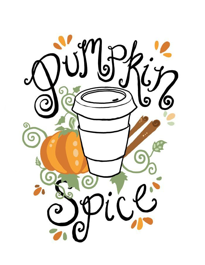 Free Printable Pumpkin Spice Illustration by Fin and ...